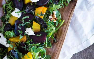 Roasted Beet & Arugula Salad